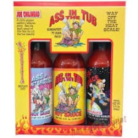 Ass In The Tub 3 Pack of Hot Sauces