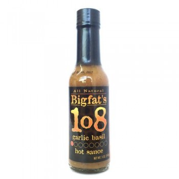 Big Fat's 108 Garlic Basil Hot Sauce