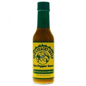 Dirty Dick's Peachy Green Hot Pepper Sauce