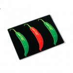 Chilli Design Toughened Glass Worktop Protector or Chopping Board - Black