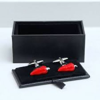 Red 3D Chilli Cufflinks