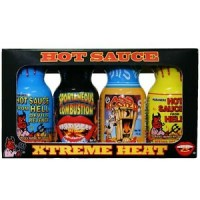 Extreme Heat Hot Sauce Mini 4 Pack