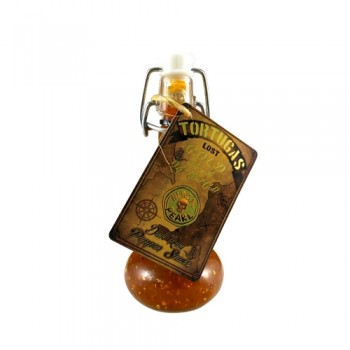 Tortugas Lost Gold Dark Rum Pepper Sauce with 24K Gold!