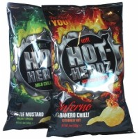 Mixed Case 12 LARGE Bags Hot-Headz! Chips