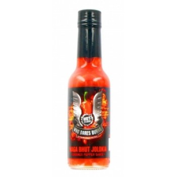 Who Dares Burns Crushed Naga Bhut Jolokia Chilli Sauce