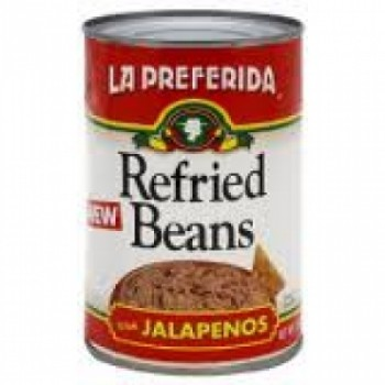 La Preferida Refried Beans With Jalapenos